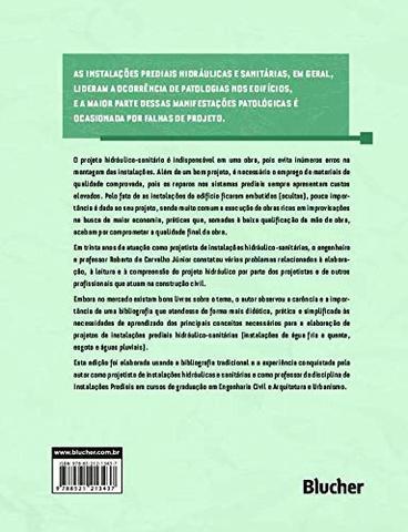 Imagem de Instalações Prediais Hidráulico-Sanitárias. Princípios Básicos Para Elaboração de Projetos - Edgard blücher