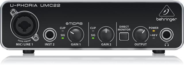 Imagem de Interface de áudio Behringer UMC22 NF + 2 Anos Garantia