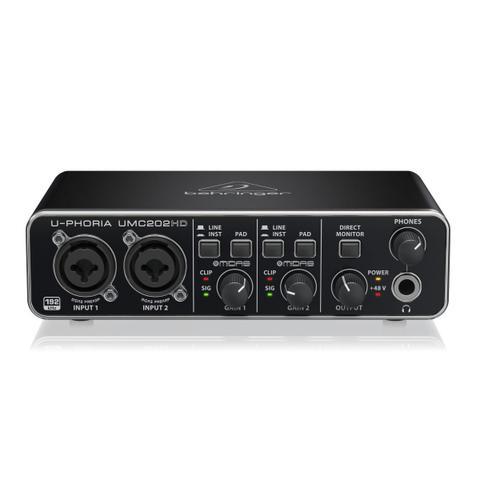 Imagem de Interface de Áudio USB e MIDI Behringer U-Phoria UMC202HD 24-bit/192 kHz com pré Midas