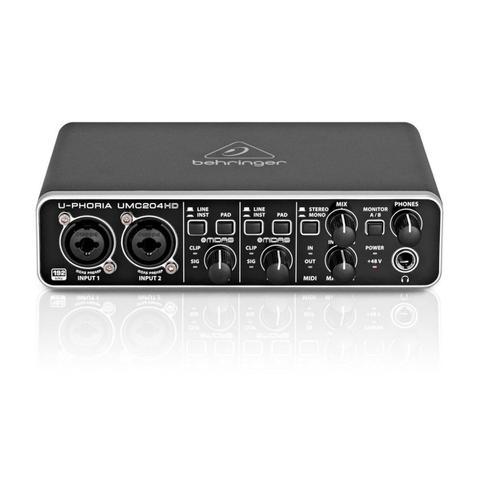 Imagem de Interface de Áudio USB e MIDI Behringer U-Phoria UMC204HD 24-bit/192 kHz com pré Midas