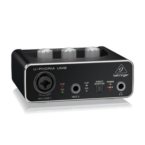Imagem de Interface de Áudio USB U-Phoria UM2 Behringer de 16-bit/48 kHz