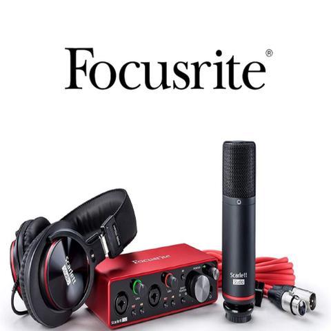 Imagem de Interface focusrite scarlett 2i2 studio 3rd gen