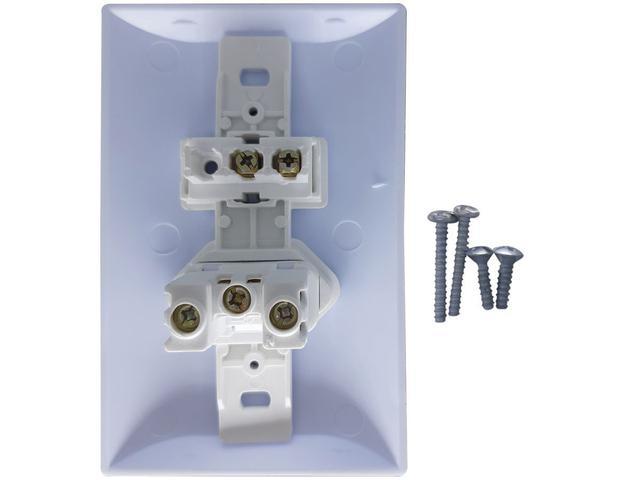 Imagem de Interruptor Simples 1 Tecla + Tomada 10A 2p+t Com Espelho Branco