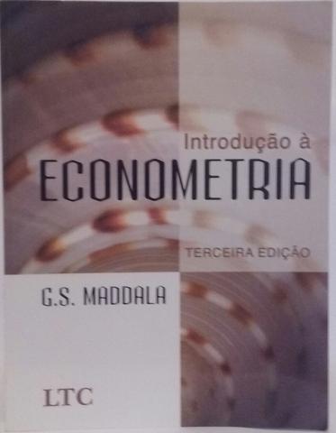 Imagem de Introdução à Econometria 3ª Edição - G. S. Maddala - Editora LTC