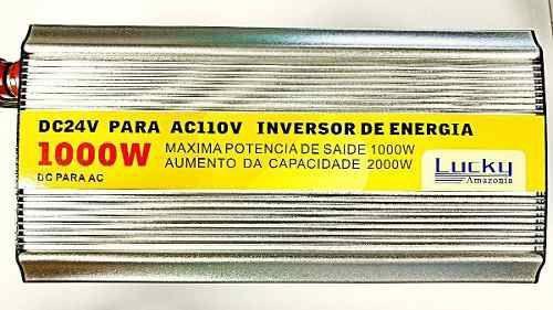 Imagem de Inversor Veicular Conversor solar 1000w 24v 110v Usb