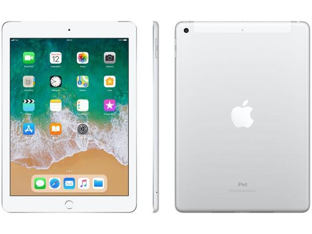 Tablet Apple Ipad 6 Mr732bz/a Prata 128gb Wi-fi