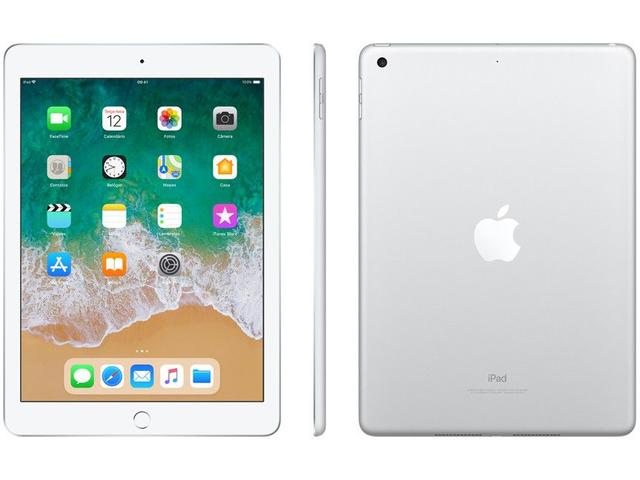 "Imagem de iPad Apple 128GB Prata Tela 9,7"" Retina"