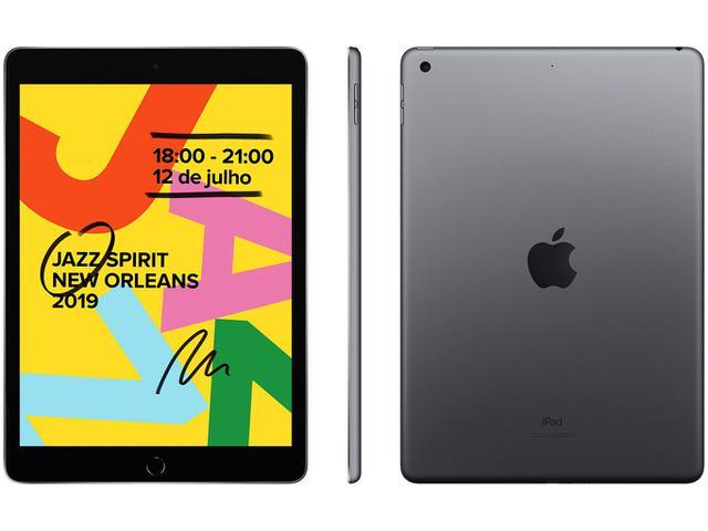 """Imagem de iPad Apple 32GB Cinza Espacial Tela 10,2"""" Retina"""