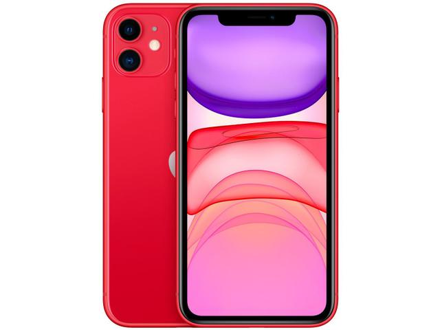 """Imagem de iPhone 11 Apple 128GB (PRODUCT)RED 6,1"""" 12MP iOS"""