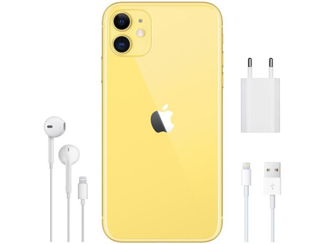 "Imagem de iPhone 11 Apple 256GB Amarelo 4G Tela 6,1"" Retina"