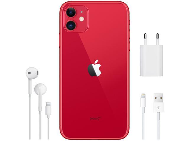 "Imagem de iPhone 11 Apple 256GB Produtc Red 4G Tela 6,1"""