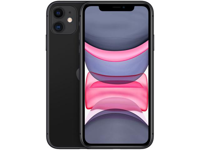 "Imagem de iPhone 11 Apple 64GB Preto 4G Tela 6,1"" Retina"