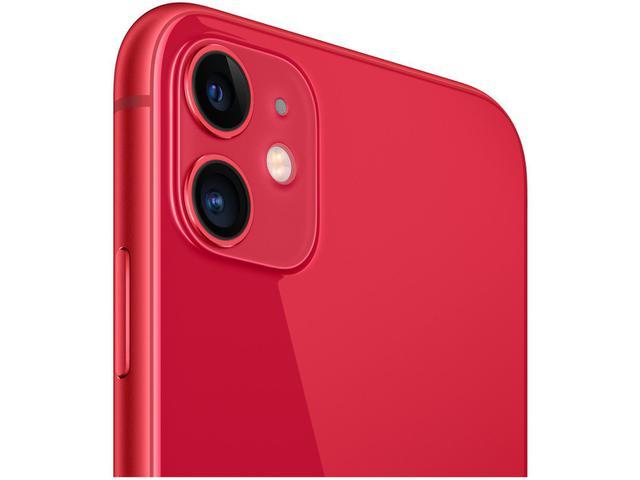 "Imagem de iPhone 11 Apple 64GB Product Red 4G Tela 6,1"""