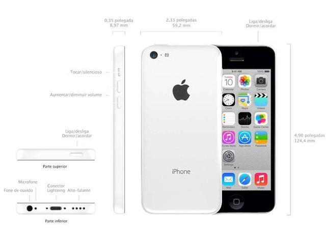 "Imagem de iPhone 5c Apple 8GB 4G iOS 8 Tela 4"" Wi-Fi"