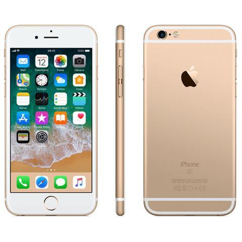 Imagem de IPhone 6s Apple com 3D Touch, iOS 11, Sensor Touch ID, Camera iSight 12MP, Wi-Fi, 4G, GPS, Bluetooth e NFC, 32GB, Dourado, Tela 4,7