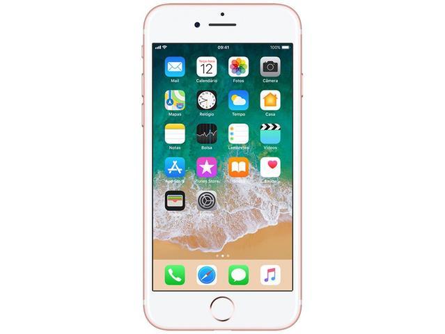 "Imagem de iPhone 7 Apple 32GB Ouro Rosa 4G Tela 4.7"" Retina"