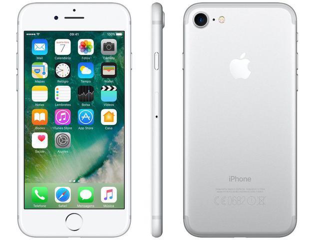 "Imagem de iPhone 7 Apple 32GB Prateado 4G Tela 4.7"" Retina"
