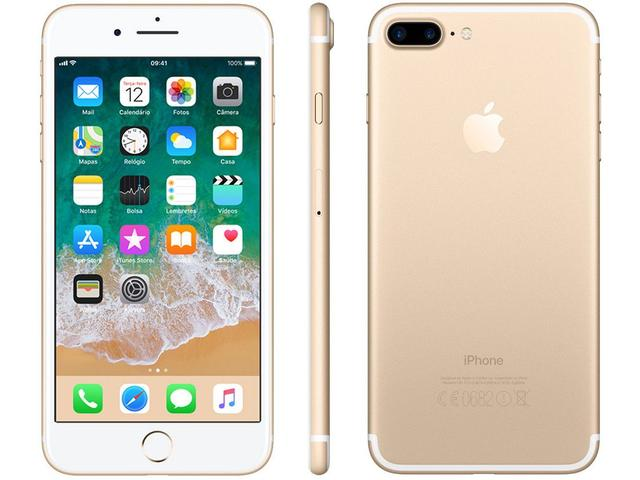 Iphone 7 Plus Apple 128gb Dourado 4g Tela 5.5 - Câm. 12mp + Selfie 7mp Ios 11 Proc. Chip A10