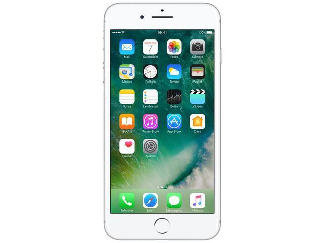 """Imagem de iPhone 7 Plus Apple 128GB Prateado 4G Tela 5.5"""""""