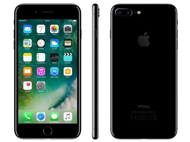 Iphone 7 Plus Apple 128gb Preto Brilhante 4g - Tela 5.5 Câm. 12mp + Selfie 7mp Ios 10