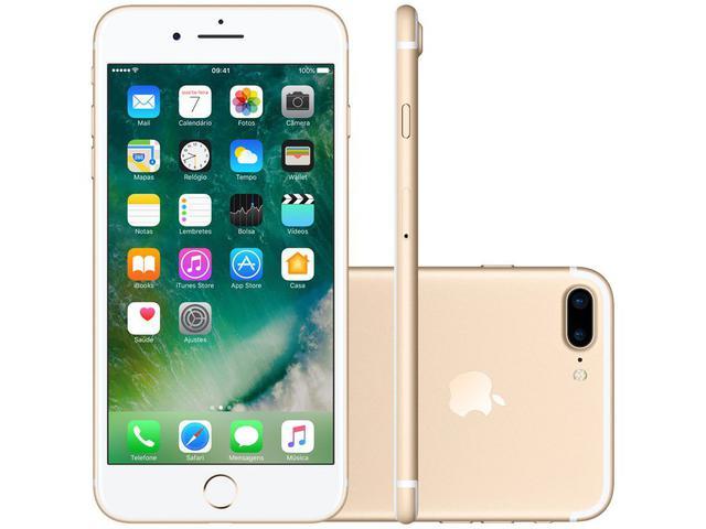 "Imagem de iPhone 7 Plus Apple 32GB Dourado 4G Tela 5.5"""