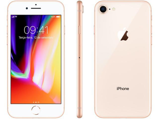 """Imagem de iPhone 8 Apple 256GB Dourado 4G Tela 4,7"""" Retina"""