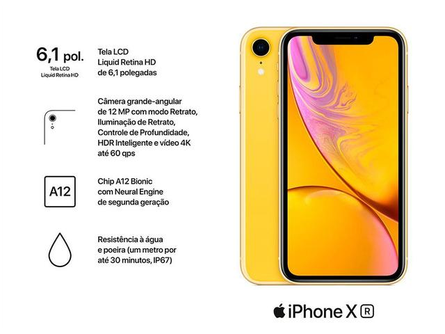 "Imagem de iPhone XR Apple 256GB Amarelo 6,1"" 12MP"