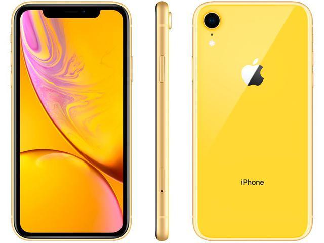 "Imagem de iPhone XR Apple 64GB Amarelo 4G Tela 6,1"" Retina"