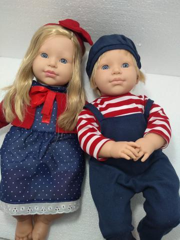 Imagem de Irmãos Gêmeos Boneca Bebê Reborn Louis Louisa Com Acessórios