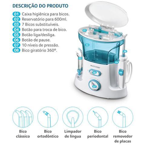 Imagem de Irrigador Oral Clearpik Portable Limpeza Profunda 7 Bicos Multilaser - HC037