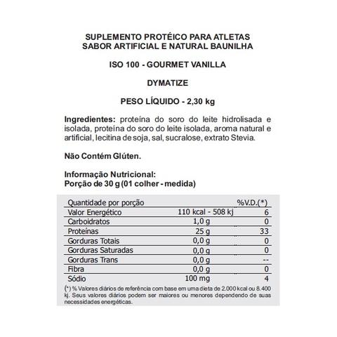 Imagem de ISO 100 5LBS (2300g) - GOURMET VANILLA
