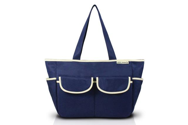 Imagem de Jacki Design Bolsa de Bebê Lisa Cor Azul e Bege