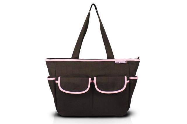 Imagem de Jacki Design Bolsa de Bebê Lisa Cor Marrom e Pink