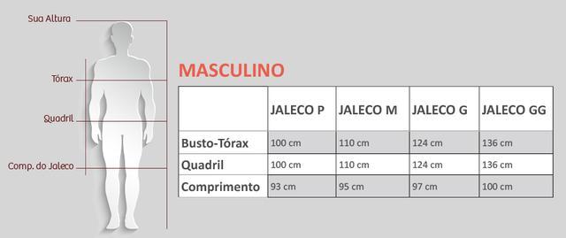 Imagem de Jaleco Nutrição Masculino Manga Longa FAÍKO Jalecos