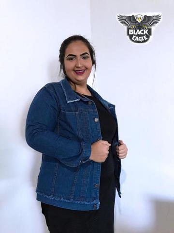 Imagem de Jaqueta Jeans Plus Size Feminina