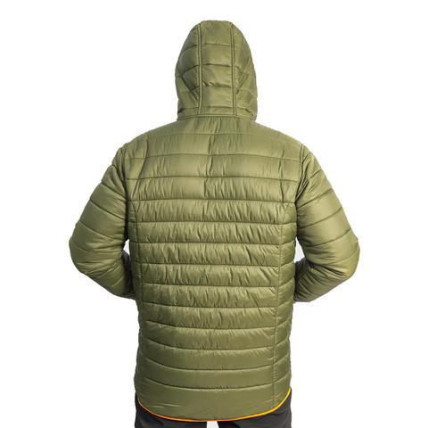 Imagem de Jaqueta Térmica Verde Escuro Com Laranja Dual Trilhas E Rumos
