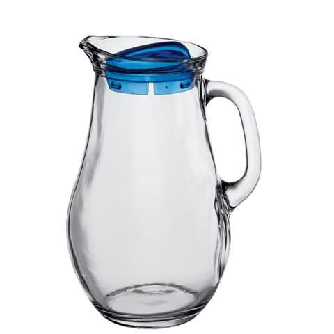 Imagem de Jarra com tampa azul/vermelha bistro 1,8 l vidro