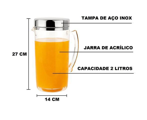 Imagem de Jarra De 2 Litros Com Tampa De Aço Inox Forma Vision Casa