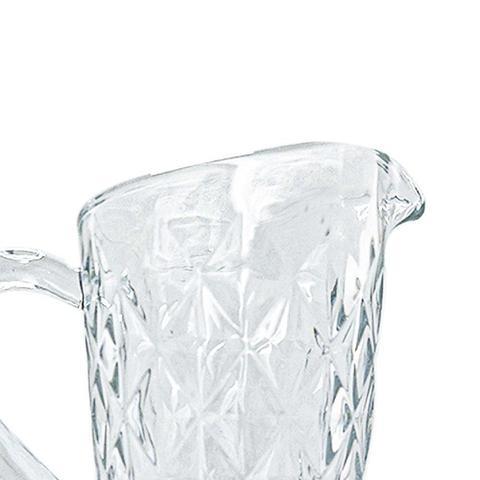 Imagem de Jarra de Vidro Diamond Transparente 1,1L - Casambiente