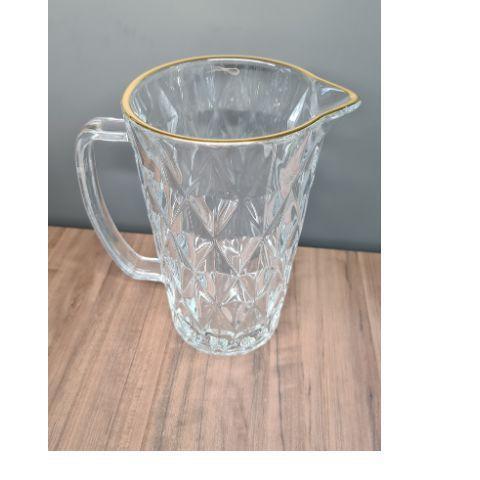 Imagem de Jarra de vidro sodo-calcico c/fio de ouro diamond transparente 1l