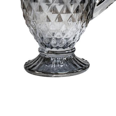 Imagem de Jarra em vidro 1,1L Bico de Abacaxi Fumê Perolado - Casambiente