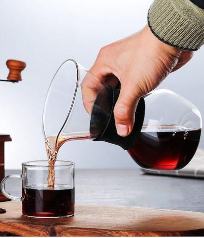 Imagem de Jarra Passador De Café Vidro E Silicone Preto C/ Filtro Inox