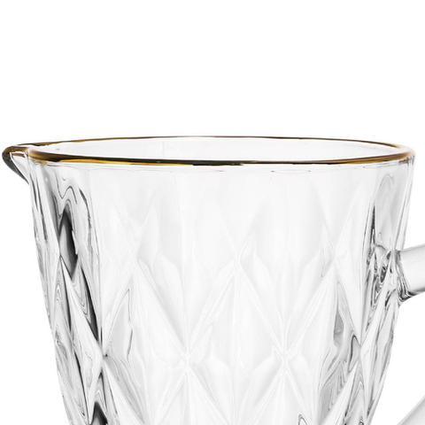 Imagem de Jarra Transparente Fio de Ouro  Diamond 1,1 Litro - Lyor