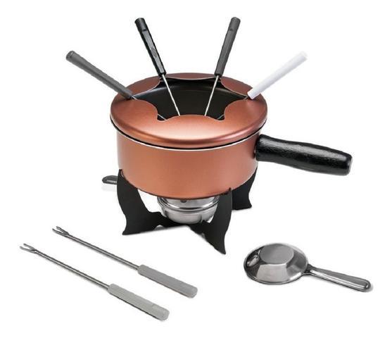 Imagem de Jg panela 8pç antiaderente 7111/401 brinox + cj fondue 10pç