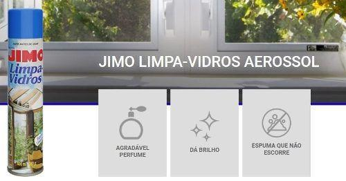 Imagem de Jimo Limpa Vidros Aerossol 400ml-carros, Vitrines, Espelhos