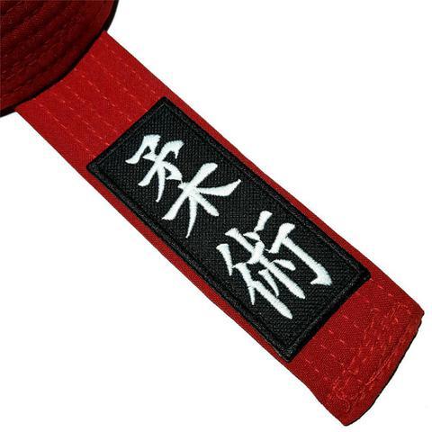 Imagem de Jiu-Jitsu Ideograma Kanjis ATM063 Patch Bordado Para Kimono
