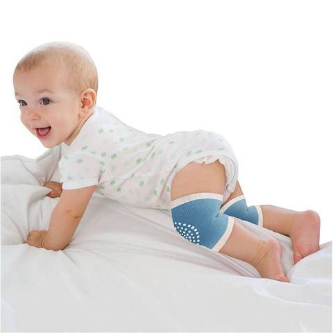 Imagem de Joelheira Antiderrapante para Bebê  - Azul - Clingo