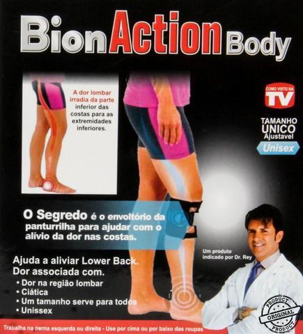 Imagem de Joelheira Magnética Bion Action Body Alivia Dor Nervo Ciático e Lombar