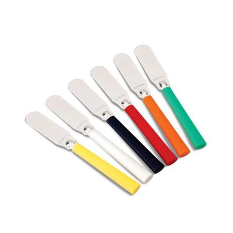 Imagem de Jogo 06 espátulas p/ manteiga coloridas hercules