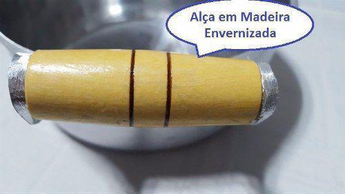 Imagem de Jogo 5 Caçarola Alumínio Batido Polido Fundido Panela Minas